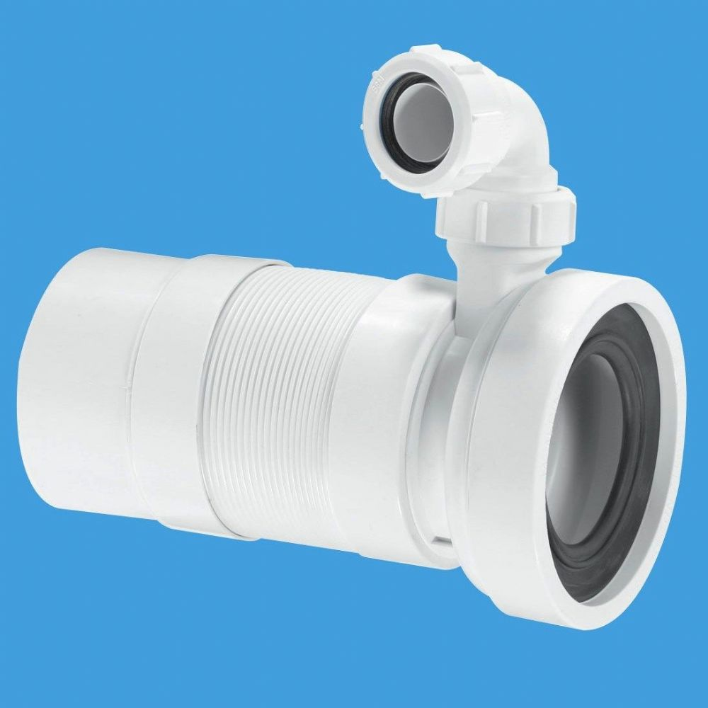Mcalpine Long Flexible Pan Connector Spigot With Basin